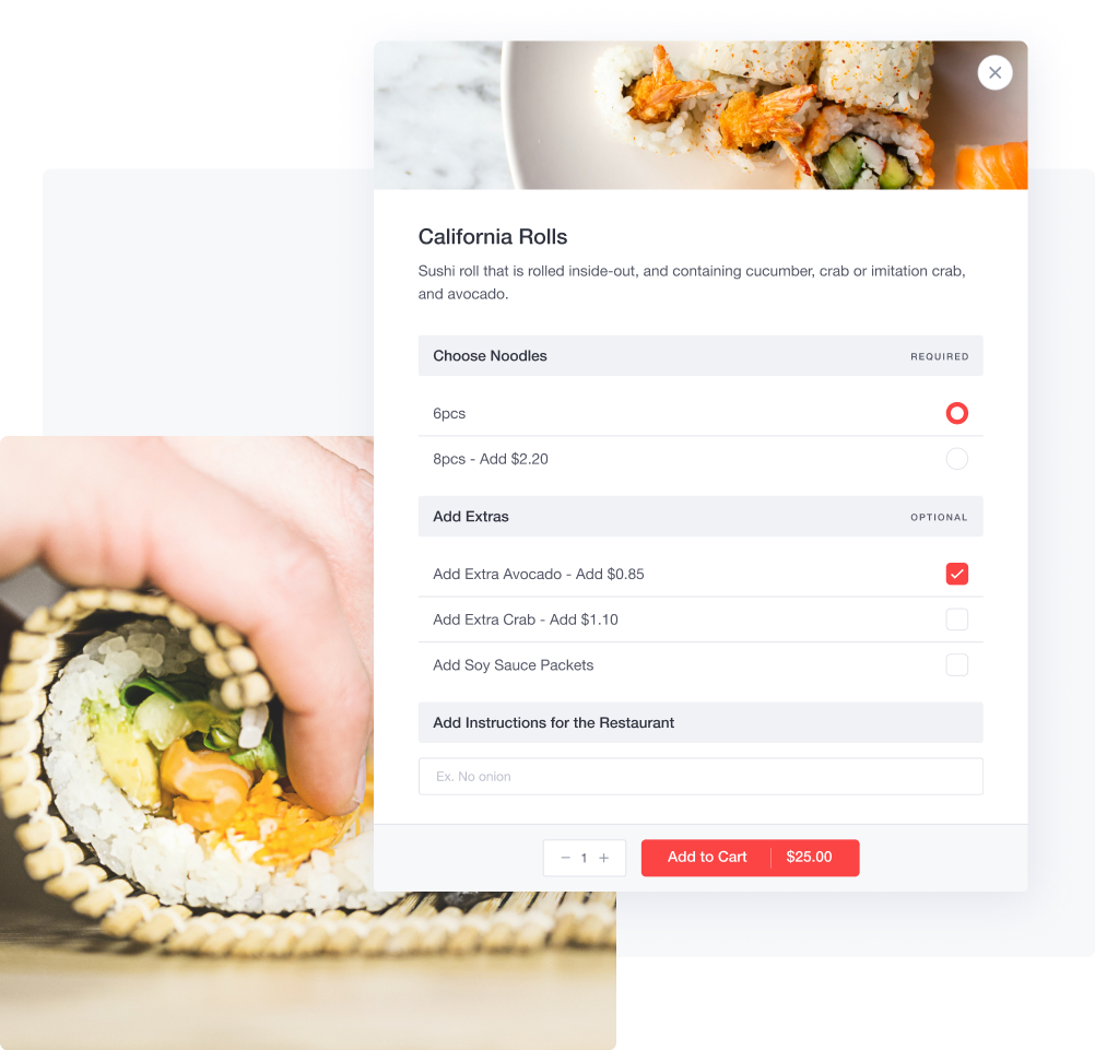 Create your online menu in minutes
